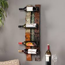 view larger on metal wall wine racks art with amazon sei southern enterprises adriano 6 wine bottle wall