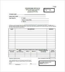 standard invoice templates standard invoice template 8 free word excel pdf format downlaod