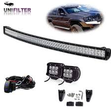 1997 Jeep Cherokee Light Bar Details About 52inch 288w Curved Led Light Bar Windshield For 99 04 Jeep Grand Cherokee Wj