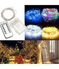 Fairy Lights Price In India Buy 10m 100leds Silver String Lights Solmore Waterproof