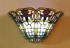 wireless wall sconce. Adorable Stained Glass Wall Sconces F6682382 Target Wireless Sconce A