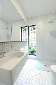 white hexagon tile bathroom matt tiles wrapped from floor to ceiling st project hex wra