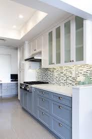 2 Tone Kitchen Cabinets Kitchen Elegant Dark Varnished Kitchen Cabinet Set And White Wood