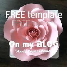 Free Paper Flower Templates Printable Free Paper Rose Template Paper Rose Printable Template Free Flower