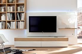 Small Picture White And Wood Modern Media Wall Unit Wall units Design Ideas
