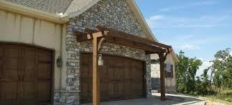 how to construct a garage door arbor or pergola