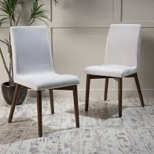 orrin mid century fabric dining chair set of 2 by christopher knight home