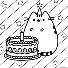 To grab these printable birthday cards with options in color and black and white just scroll to the bottom and click download. Printable Birthday Coloring Pages Pusheen Cake Happy Birthday Coloring Pages Printable Entitlementtrap Com Birthday Coloring Pages Happy Birthday Coloring Pages Unicorn Coloring Pages