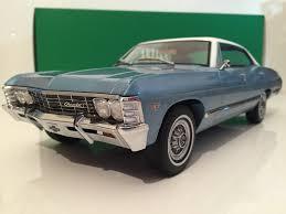 1967 Chevrolet Impala Sport Sedan Blue with White Roof Greenlight ...