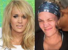 carrie underwood from stars without makeup the 32 year old country star posted on