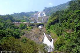 Image result for DUDHSAGAR WATERFALL IMAGES