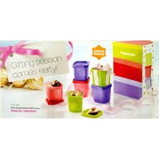 tupperware birthday pe small gift set 6x80ml with gift box 11street msia food storage