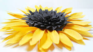 diy paper sunflower flower for wall backdrop decoration arts and crafts paper flowers easy for kids on diy sunflower wall art with diy paper sunflower flower for wall backdrop decoration arts and