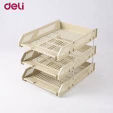 plastic office desk. Deli File Box Three Layers Plastic Data Office Desk Magazine/paper Organizer Documents Z