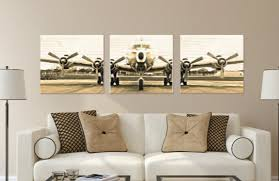 sensational aviation wall art online of 3 vintage airplane photo canvas set themed inspired on vintage wall art canvas with bold ideas aviation wall art small home decoration airplane indoor
