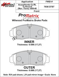 Street Performance Racing Pads Plate D787 Compound Pm Promatrix
