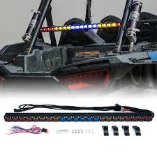 Rzr Chase Light Details About Rybbyr Xprite G1 Utv Led Strobe Light Bar Taillight Brake For Atv Polaris Rzr