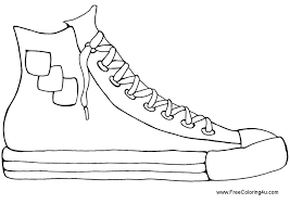 Coloring Pages Shoes Printable Coloring Pages Of Shoes Free