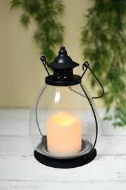 metal candle lantern school house battery operated candle lantern timer 9 metal glass large black outdoor