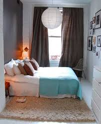 Collect this idea photo of small bedroom design and decorating idea - shag  carpet and heavy drapes