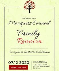 Family Reunion Flyer Templates Free Family Reunion Invitation Templates Free Free Vintage Family Reunion