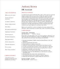 Hr Assistant Cv Hr Resumes 9 Free Word Pdf Documents Download Free Premium