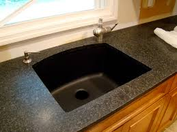 simple and neat decorating ideas using rectangular black sinks