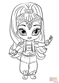Zeta Shimmer And Shine Coloring Pages