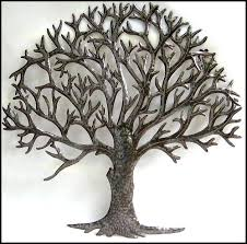 large haitian metal art wall sculpture expertly hand cut from flattened 55 gallon steel drums into a beautiful work of art  on large metal tree wall sculpture with large haitian metal art wall sculpture expertly hand cut from