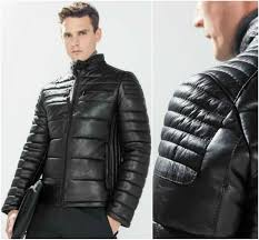 ZARA Man Authentic BNWT Black 100% Sheep Leather Quilted Biker ... & ZARA Man Authentic BNWT Black 100% Sheep Leather Quilted Biker Jacket  9953/352 Adamdwight.com