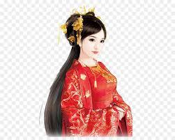 bridegroom chinoiserie red bridal makeup png 600 704 free transpa bride png