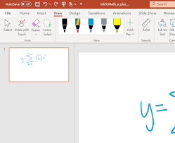 Click once on each of the two text boxes that come by default on the slide and press the delete key. Convert Ink To Math In Powerpoint
