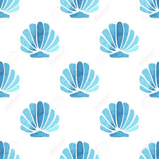 Summer Pattern Fascinating Seashell Vector Seamless Summer Pattern Royalty Free Cliparts