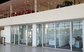 office glass walls. Office With Glass Walls And A Balcony Above Them. Office