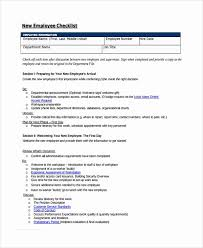 New Employee Checklist Template Shooters Journal