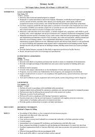 Locksmith Resume Templates