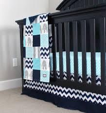 aqua navy grey baby bedding custom