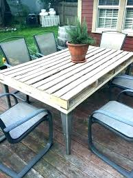 wood outdoor dining table and chairs faux patio folding furniture tables pallet reclaimed