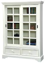 white bookshelf with glass doors white bookcase with glass doors full size of with sliding doors