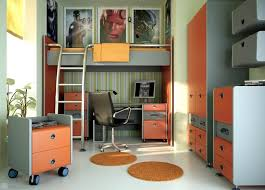mesmerizing teen room decor with 2 round area rug and also bunk bed with computer desk