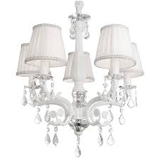 chair lovely chandelier with white shade 12 victoria 5 arm crystal girls ceiling light kids lighting