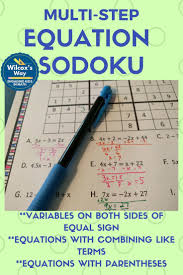 fun way to practice multi step equations with these sodoku puzzles includes solving equations