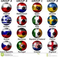 UEFA-Euro 2012 Gruppe vektor abbildung. Illustration von euro - 22741511