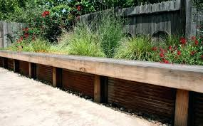 wood retaining wall bench corrugated metal retaining wall seat was added to provide additional seating multi wood retaining wall