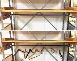 used stockroom shelving hang rails usrshr