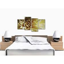 four panel set of extra large cream canvas wall art display gallery item 1  on black and cream wall art uk with canvas prints of flower in cream for your living room