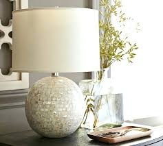 round table lamp base mother of pearl with usb port uk