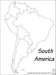 Map Of South America Blank Latin Printable Brazil Maps Within And