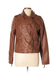 pin it xhilaration women faux leather jacket size l