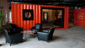 container office design. shipping containers transform warehouse into office space container design